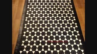 فرش چرم طبیعی گاو-فرش پوست و چرم کد2201