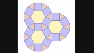 کاشی کاری با شش ضلعی و مربع و مثلث متساوی الاضلاع