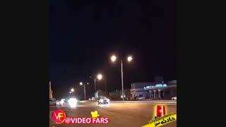 واژگونی خودروی شاسی بلند به علت انجام حرکات نمایشی