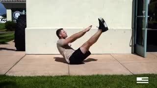 آموزش حرکت V-UPs برای  شکم