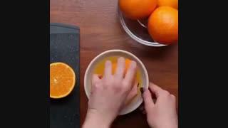 تهیه دسر پرتقالی در 1 دقیقه