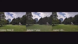 مقایسه دوربین note 8وiphone 7 plusوS8 plusدرmacrotel.ir
