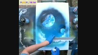 نقاشی با اسپره