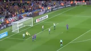 خلاصه بازی بارسلونا 6-1 ایبار (هتریک مسی)