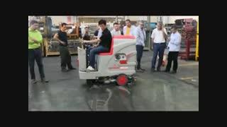 نظافت کارخانه های فولاد | ماشین نظافت مکانیزه| زمین شوی | اسکرابر صنعتی