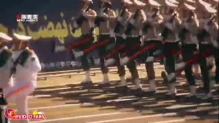 رژه بزرگ نیروهای مسلح/ نمایش موشک خرمشهر با برد ۲ هزار کیلومت
