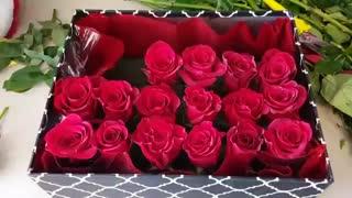 مراحل ساخت جعبه گل رز