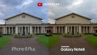 مقایسه دوربین آیفون 8 پلاس و  گلکسی نوت 8