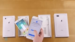 جعبه گشایی آیفون 8 و آیفون 8 پلاس اپل