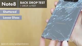 ویدیوی تست سقوط آیفون 8 و 8 پلاس اپل در کنار گلکسی نوت