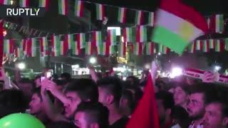 رای گیری تاریخی کردها عراق رفراندوم استقلال در اربیل را جشن می گیرند