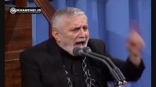 مداحی حاج منصور درباره شهید حججی در حضور رهبرانقلاب
