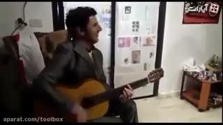 گیتار زدن فوق العاده امین حیایی