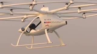 پرواز اولین تاکسی هوایی  خودران بر فراز آسمان دبی