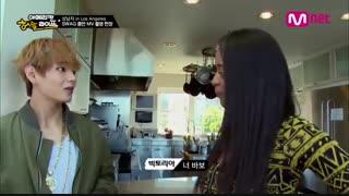 [ BTS in LA ] وقتی وی به دختره یاد میده که بگه جیمینی پابو ، عکس العمل جیمین ...