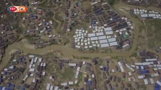 تصاویر هوایی اردوگاههای پناهجویان روهینگیا در بنگلادش