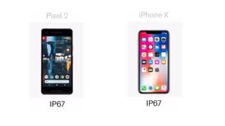 مقایسه آیفون X  با Google Pixel 2