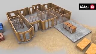 روش جدید ساخت خانه ها در آمریکا